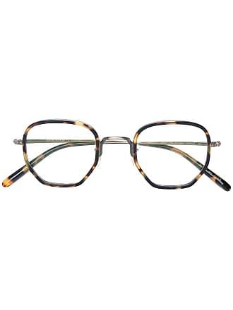 Oliver Peoples Óculos de grau quadrado - Marrom
