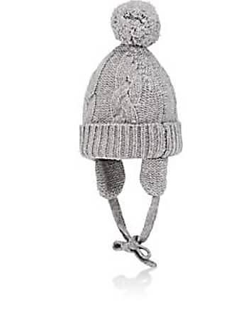 039a83a55ef Barneys New York Kids Pom-Pom Cashmere Hat - Gray Size 18 24