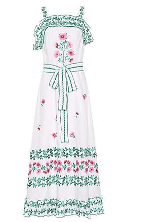 Gül Hürgel Floral-embroidered linen dress