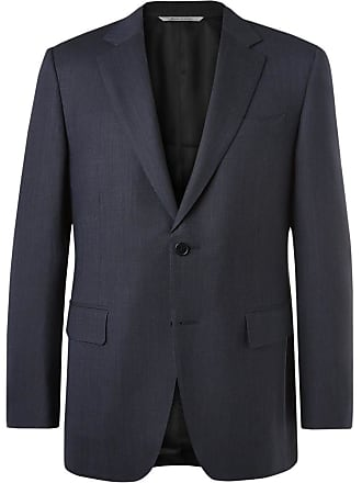Canali Blue Impeccabile Travel Slim-fit Wool Suit Jacket - Blue