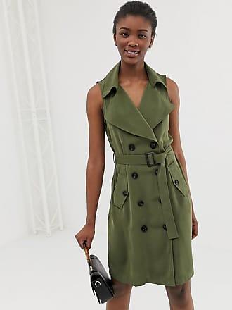 Vero Moda double breasted utility blazer dress - Green