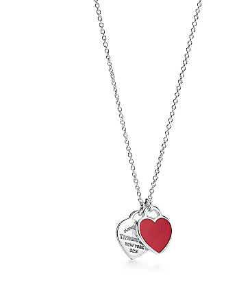 c3a9daacf Tiffany & Co. Return to Tiffany mini double heart tag pendant in silver  with enamel