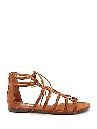 Forever 21 Forever 21 Faux Suede Gladiator Sandals Brown