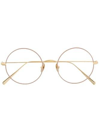 Kaleos oversized round frame glasses - Dourado