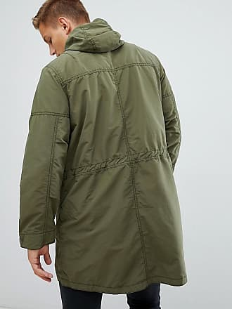 bfedf21490 Abercrombie   Fitch lightweight hooded parka in khaki - Green