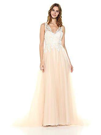 Jenny Yoo Womens Savannah Bridal Gown, Light Champagne/Ivory, 10
