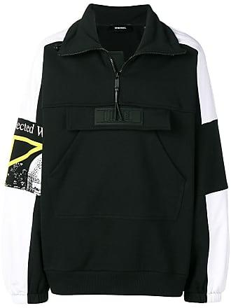 Diesel oversized zip sweatshirt - Black