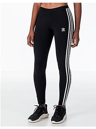 6b91f2dd0801c2 adidas Womens Originals Trefoil 3-Stripes Leggings, Black