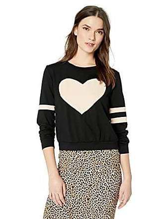 Only Hearts Womens So Fine Love Story Sweatshirt, Black/Nudie, Medium