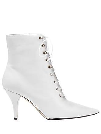 74a6715beba5d4 CALVIN KLEIN 205W39NYC Calvin Klein 205w39nyc Woman Lace-up Leather Ankle  Boots White Size 36