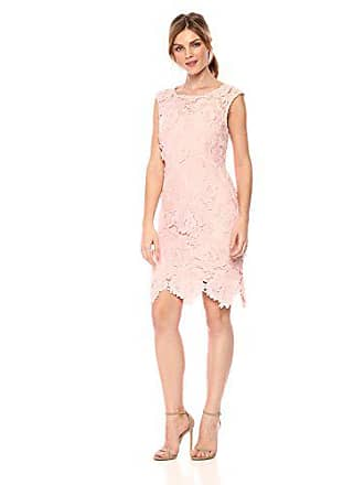 Nicole Miller Womens 3D lace Scallop Fitted Cocktail Dress, LT_Peach 12