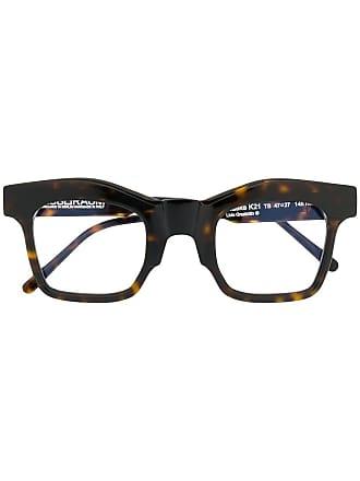 Kuboraum Armação de óculos oversized - Marrom
