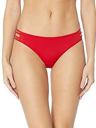 Guess Womens Rockgirl Cut Out Brazilian Bikini Bottom, red, M