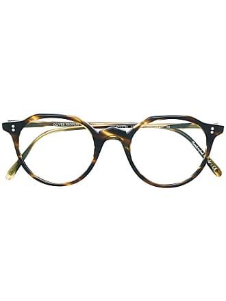 Oliver Peoples Armação de óculos arredondada - Marrom