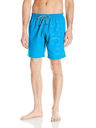 919cd177b8890 HUGO BOSS BOSS Mens Orca Solid Swim Trunk, deep Turquoise/Aqua, Small