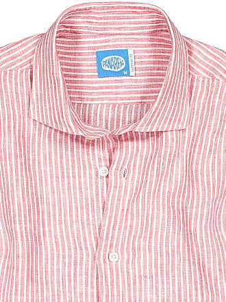 Panareha Camicia in lino a righe CORSICA rosso