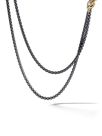 David Yurman 14kt yellow gold and coloured steel DY Bel Aire necklace - L4blk