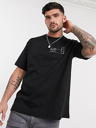 Topman Schwarzes T-Shirt mit kosmischem Print