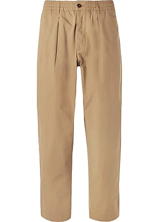 Universal Works Pleated Cotton-ripstop Trousers - Sand