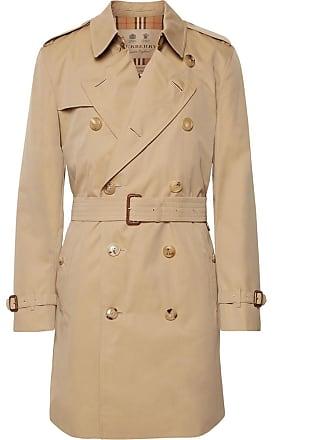 Burberry Kensington Cotton-gabardine Trench Coat - Beige