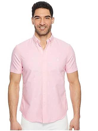 8f507a9a7 Polo Ralph Lauren Oxford Short Sleeve Sport Shirt (Palm Jacquard) Mens  Clothing