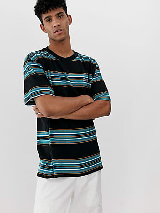ac9633c0 Obey Route Fairtrade cotton retro stripe t-shirt in black