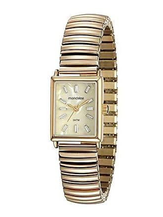 Mondaine Relógio Quadrado Pulseira Elástica Dourado 99161LPMVDE1