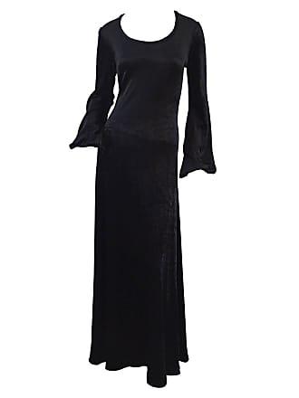 f894e80e3fb Betsey Johnson Rare Alley Cat By Betsey Johnson 1970s Black Velveteen  Billow Sleeves Dress