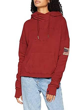 b656aa52cd4624 True Religion Dames trui met capuchon Printed Cropped Hoody - normale  pasvorm 40 (fabrieksmaat: