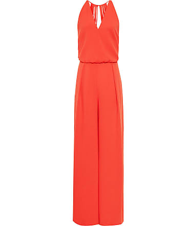 ec9e6894bcee Reiss Yeva - Backless Strap Detail Jumpsuit in Sunset Orange, Womens, Size  10