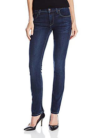 James Jeans Womens Hunter High Rise Straight Leg Jean, Winter Blues, 25