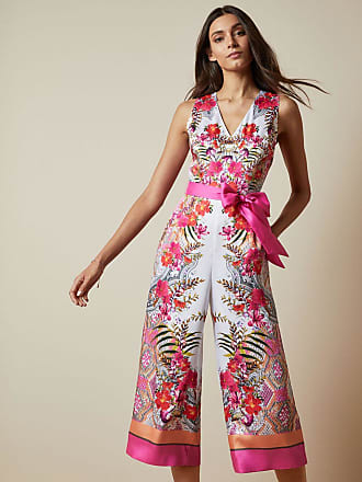 Ted Baker Samba Printed Jumpsuit in Ivory SOLANA, Womens Clothing