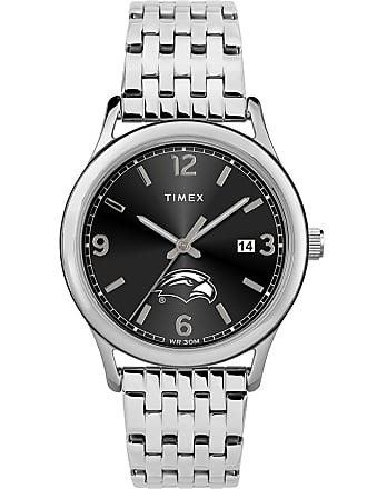 Timex Timex Watch Womens Sage U Of S Mississippi Golden Eagles Silver-Tone/stainless Steel/black Item Twzuusmwcyz