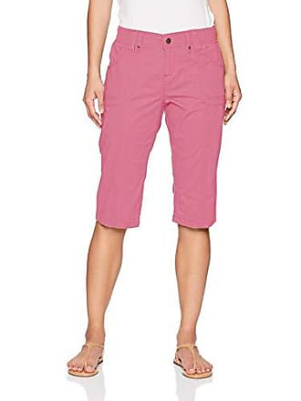 baafa485 Lee Womens Petite Relaxed Fit Lyric Knit Waist Cargo Capri Pant, Rose, 2