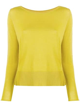 Roberto Collina boat neck jumper - Yellow