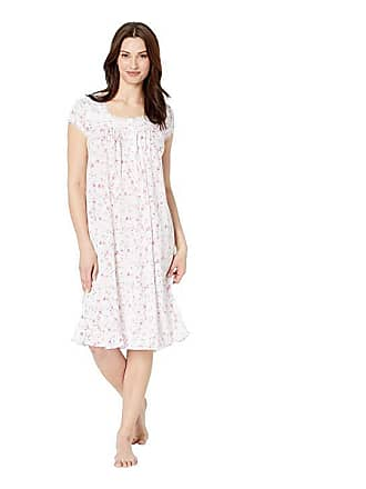 811edb0f14 Eileen West Cotton Modal Jersey Short Nightgown (White Ground Viney Floral) Womens  Pajama