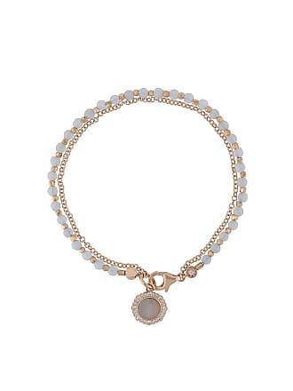 Astley Clarke Pulseira Lace Agate Luna Biography banhada a ouro 18k - Metálico