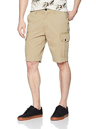O'Neill Mens 21 Inch Outseam Cargo Pocket Classic Walk Short, Khaki/Campbell, 33