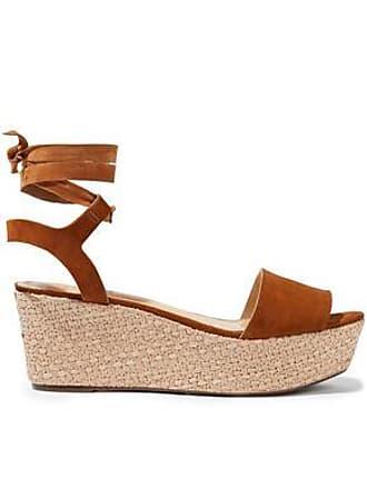 Schutz Schutz Woman Suede Espadrille Wedge Sandals Tan Size 8.5