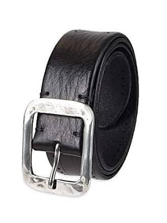 John Varvatos Leather Belts for Men Dress Casual for Jeans, black Fleetwood, 34