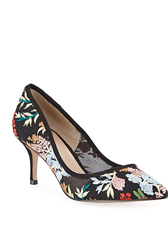 e68099123f1 Neiman Marcus Andre Floral-Embroidered Pointed-Toe Pumps