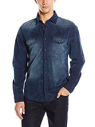 Joe's Mens Ralston Indigo Corduroy Button Down Shirt, S