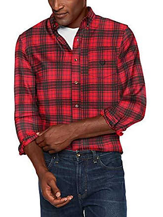 0c5f7669 Chaps Mens Classic Fit Long Sleeve Performance Flannel Shirt, Red Multi, M