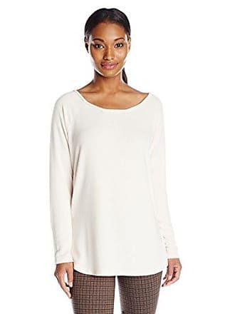 NYDJ Womens Cozy Sarah Scoop Neck Sweater, Powder, X-Large