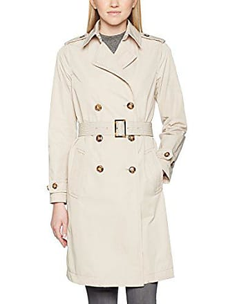 Benetton Trench Coat with Belt, Manteau Femme, Beige, 6 (Taille Fabricant  a2682ad63fe