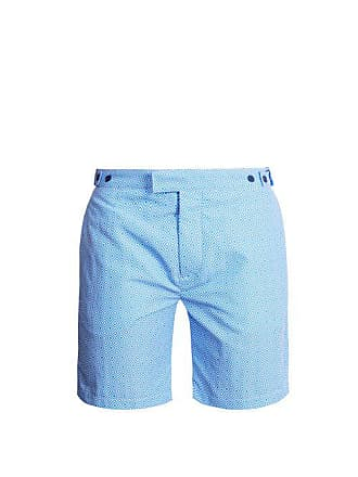 cde9f0af27 Frescobol Carioca Tailored Angra Print Swim Shorts - Mens - Blue