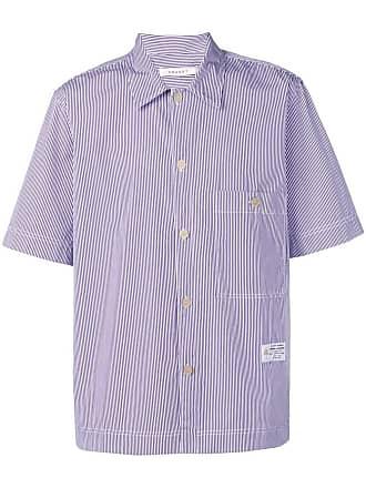 Covert striped short-sleeved shirt - Azul