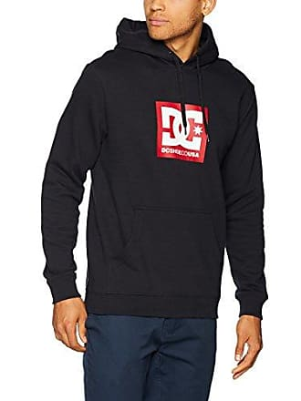 eca9f7f3191e DC Mens Square Star Pullover Hoodie Fleece Jacket