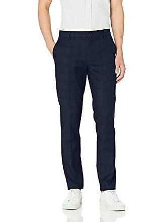 Goodthreads Mens Skinny-Fit Wrinkle Free Dress Chino Pant, Navy Glen Plaid 40W x 30L
