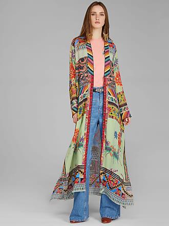 Etro Maxi Patchwork Print Coat, Woman, Green, Size 38
